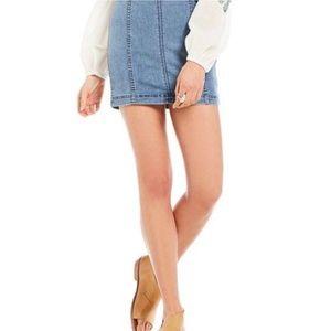 Free People Modern Femme Mini Denim Skirt Size 12